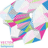 3D vector abstract technology backdrop, geometric unusual stripy Royalty Free Stock Image