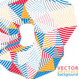 3D vector abstract technology backdrop, geometric unusual stripy Stock Photo