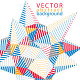 3D vector abstract technology backdrop, geometric unusual stripy Royalty Free Stock Photo