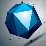 3D vector abstract technology illustration, geometric Royalty Free Stock Photo