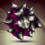 3D vector abstract technology illustration, perspective geometri Royalty Free Stock Photo