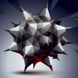 3D vector abstract technology illustration, perspective geometri Royalty Free Stock Image