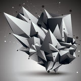 3D vector abstract technology illustration, perspective geometri Royalty Free Stock Photography