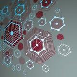 3d vector abstracte rode die achtergrond in retro stijl van Bauhaus wordt gecreeerd Stock Foto
