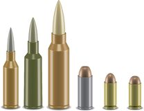 3d vector ammo set Royalty Free Stock Images