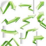 3D vector arrows Stock Photos