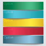 3D Vector Banners. Eps10 illustration with a place for your text can be used to your business marketing goals Royalty Free Stock Photos