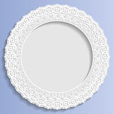 3D Vector bas-relief frame, vignette with ornaments, decorative plate,   festive pattern Royalty Free Stock Image