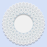 3D Vector bas-relief frame, vignette with ornaments, decorative plate,   festive pattern. White pattern, template greetings Stock Image