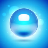 3d vector blue sphere. 3d blue abstract background with spheres Royalty Free Stock Photography