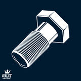 3d vector classic bolt. Detailed graphic built instrument – fi Royalty Free Stock Photos