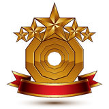 3d vector classic royal symbol with sophisticated Stock Photo