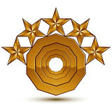 3d vector classic royal symbol, sophisticated golden element Royalty Free Stock Photos