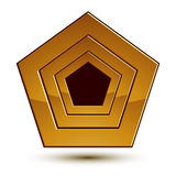 3d vector classic royal symbol, sophisticated golden emblem Stock Images