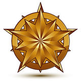 3d vector classic royal symbol, sophisticated golden star emblem Stock Images