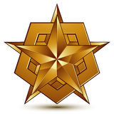 3d vector classic royal symbol, sophisticated golden star Stock Images