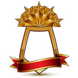 3d vector classic royal symbol, sophisticated protection shield Royalty Free Stock Photos
