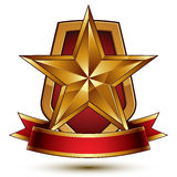 3d vector classic royal symbol, sophisticated protection shield Stock Images