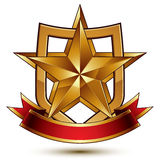 3d vector classic royal symbol, sophisticated protection shield Royalty Free Stock Images