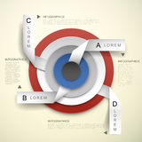 3d vector concentric and tag infographic elements. 3d vector abstract concentric and tag infographic elements Royalty Free Stock Photo