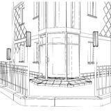 3D vector construction of building Stock Image