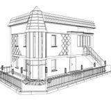 3D vector construction of building Stock Photos