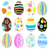3D Vector easter eggs set with shadows Stock Photo