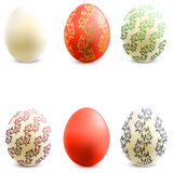 3D Vector easter eggs set with shadows. Royalty Free Stock Image