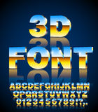 3d vector font Royalty Free Stock Photo