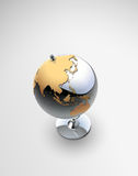 3D Vector globe. 3D Vector illustration of Metalic globe Royalty Free Stock Images