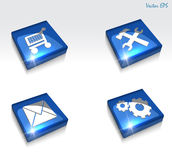 3d vector glossy setting and repair web icon set Royalty Free Stock Photo