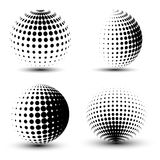 3D vector halftone spheres Royalty Free Stock Image