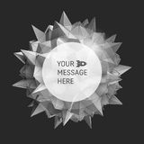3D vector illustration. Abstract background with Place for Text. Royalty Free Stock Image