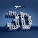 3d vector illustration. Can be used for presentations and design Royalty Free Stock Photography