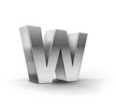 3D Vector illustration of letter w. Vector illustration of letter w Royalty Free Stock Photography