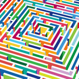 3d vector labyrinth Royalty Free Stock Image
