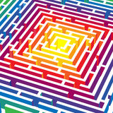 3d vector labyrinth Stock Photo