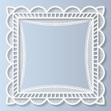 3D Vector lace frame, festive pattern, white pattern Royalty Free Stock Image