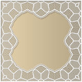 3D Vector lace frame, festive pattern Royalty Free Stock Photos