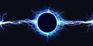 3d vector lichteffect van de elektrische energielossing vector illustratie