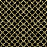 3d vector naadloze patroon van wafel het geruite gouden en zwarte grunge Achtergrond van borduurwerk de overladen strepen Herhaal royalty-vrije illustratie