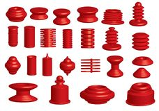 3d Vector objects. Lots of red 3D vector objects - easy to recolour Stock Images