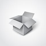 3d vector open box in a realistic style. 3d vector open grey box in a realistic style Stock Images