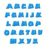3D vector rippling blue alphabet Alphabet Royalty Free Stock Image