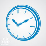 3d vector round stylized wall clock. Time idea Royalty Free Stock Photography