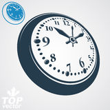 3d vector round wall clock, simple version included. Time idea c Royalty Free Stock Images