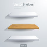 3D Vector shelves. Rectangle and rounded corner sh Stock Images