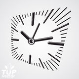 3d vector square wall clock with dial and an hour hand. Time ide Royalty Free Stock Photos