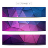 3d Vector Technology Background. Abstract 3d vector digital technology web banners set. Internet technology vector background. Business abstract vector. Design Royalty Free Stock Image