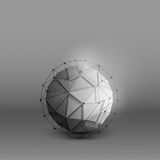 3d vector technology background. Abstract 3d vector technology orb with wireframe structure background. Digital business abstract vector background. Flayer Royalty Free Stock Photography